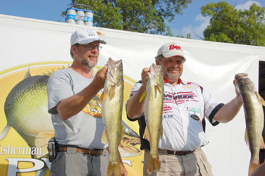 Here's Al & Bill Ortiz on Day 2 of the 2008 Bull Shoals PWT