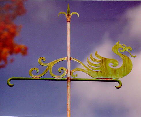 Denninger Dragon Bannerette Weather Vane