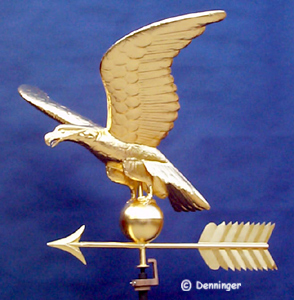 Copper Eagle Weather Vane in 23k Gold Leaf
