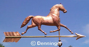 Black Hawk Horse Weather Vane On Arrow