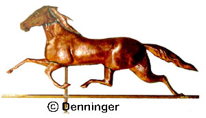 White Mountain Boy Racing Horse Weathervane