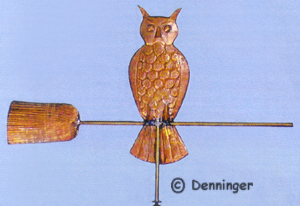Owl on a Broom