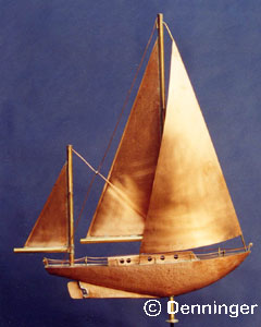 Ketch Sailboat Weather Vane