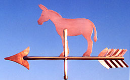 Mule On Arrow Weather vane