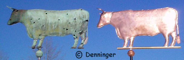 Original Ox Weather Vane & Denninger Replica