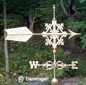 Denninger Gilded Weather Vane for Church in Warren Maine