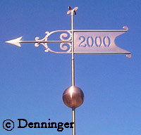 Denninger Westervelt Banner Weather Vane with Globe