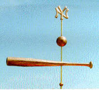 Denninger Yanke Ball and Bat Weather Vane