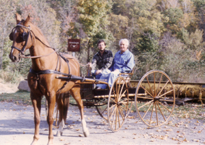 Al and his father Bill in Al's carriage
